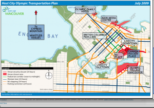 map of traffic route during olympic 2010 vancouver