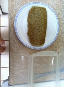ルクエで電子レンジ低糖質フラックスシードパン