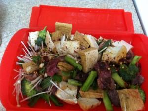 ジャイアントルクエに野菜と豆腐と牛肉