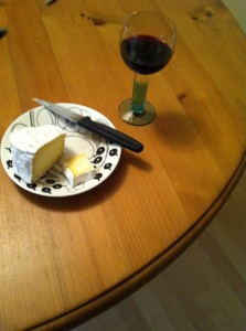 ワインとLady Jane チーズ