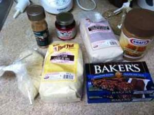 セールで買った低糖質パン/お菓子の材料