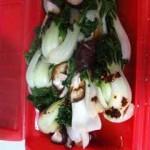 チンゲンサイ&椎茸のルクエ蒸し