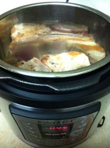 圧力鍋で豚肉ロースト