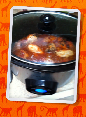 low carb BBQ chicken in the slowcooker