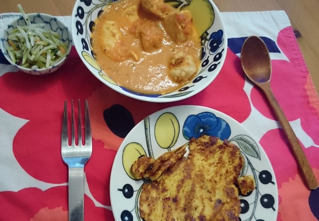 Low Carb Butter Chicken and Naan Bread