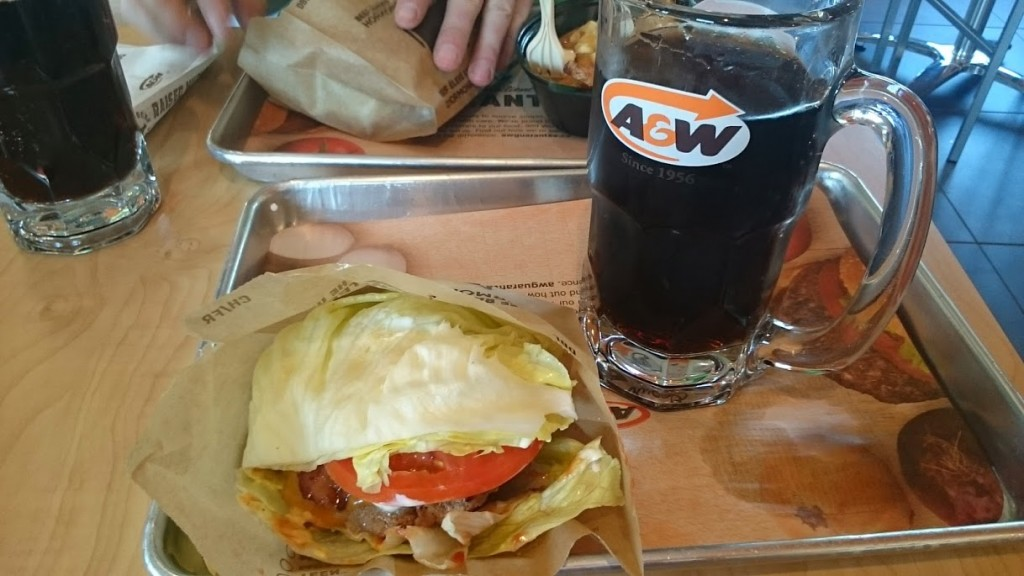 Low Carb A&W uncle burger