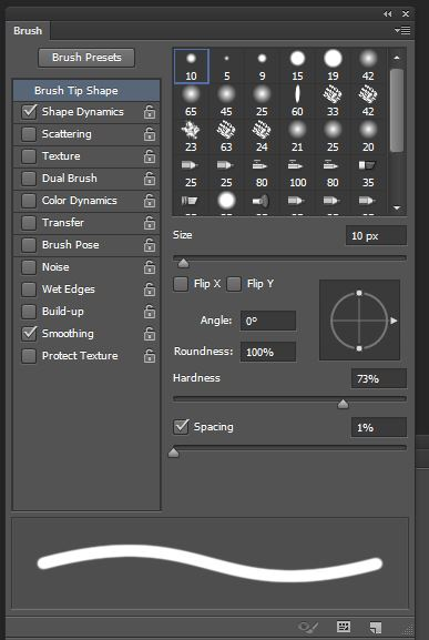photoshop manga brush setting