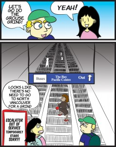 Granville Skytrain Station Cartoon