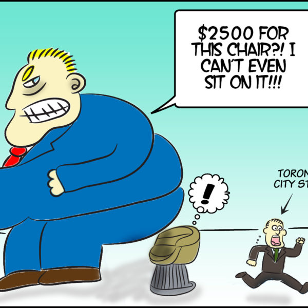 Rob Ford and Chair Cartoon
