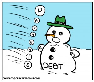 Debt Snowball Repayment Cartoon