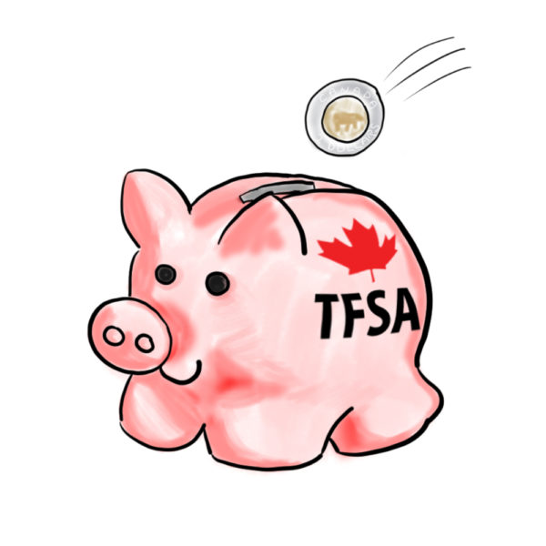 TFSA Piggybank Cartoon