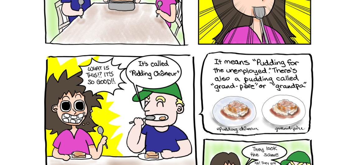 French Canadian Dessert Cartoon