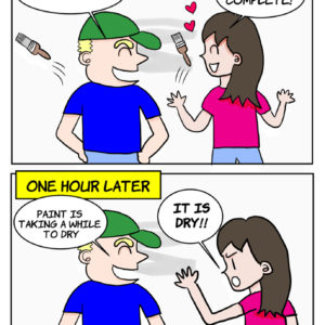 Home Reno Paint Touch Up Cartoon