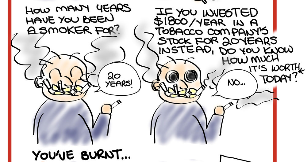 Smokers Should Invest Cartoon