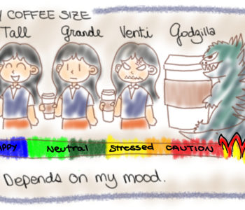 Coffee Size Cartoon