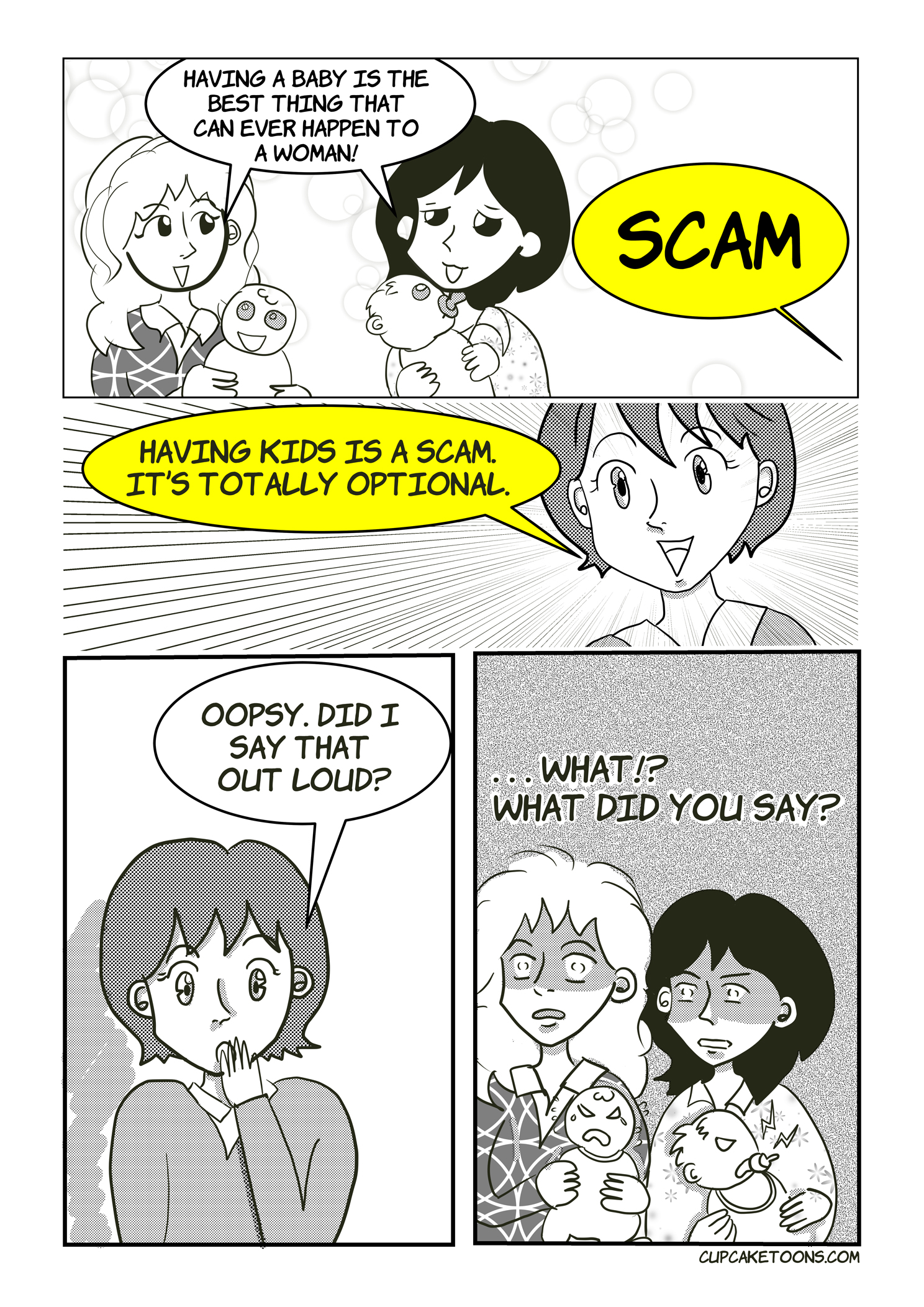 Having Kids are a Scam Cartoon