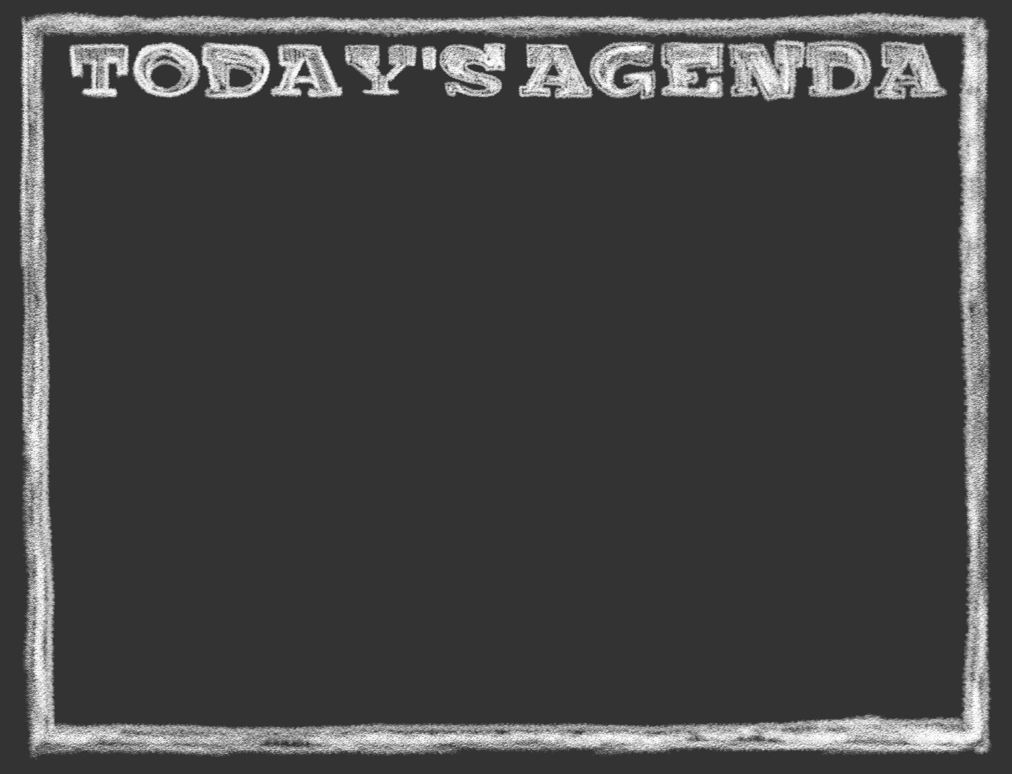 today s agenda chalkboard template for powerpoint presentations