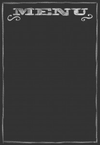 Menu Chalkboard Template