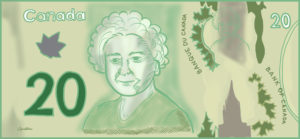 Canadian Twenty Dollar Cartoon Illustration