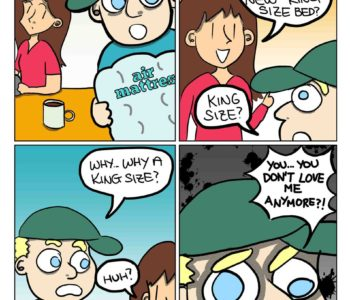King Size Bed Cartoon