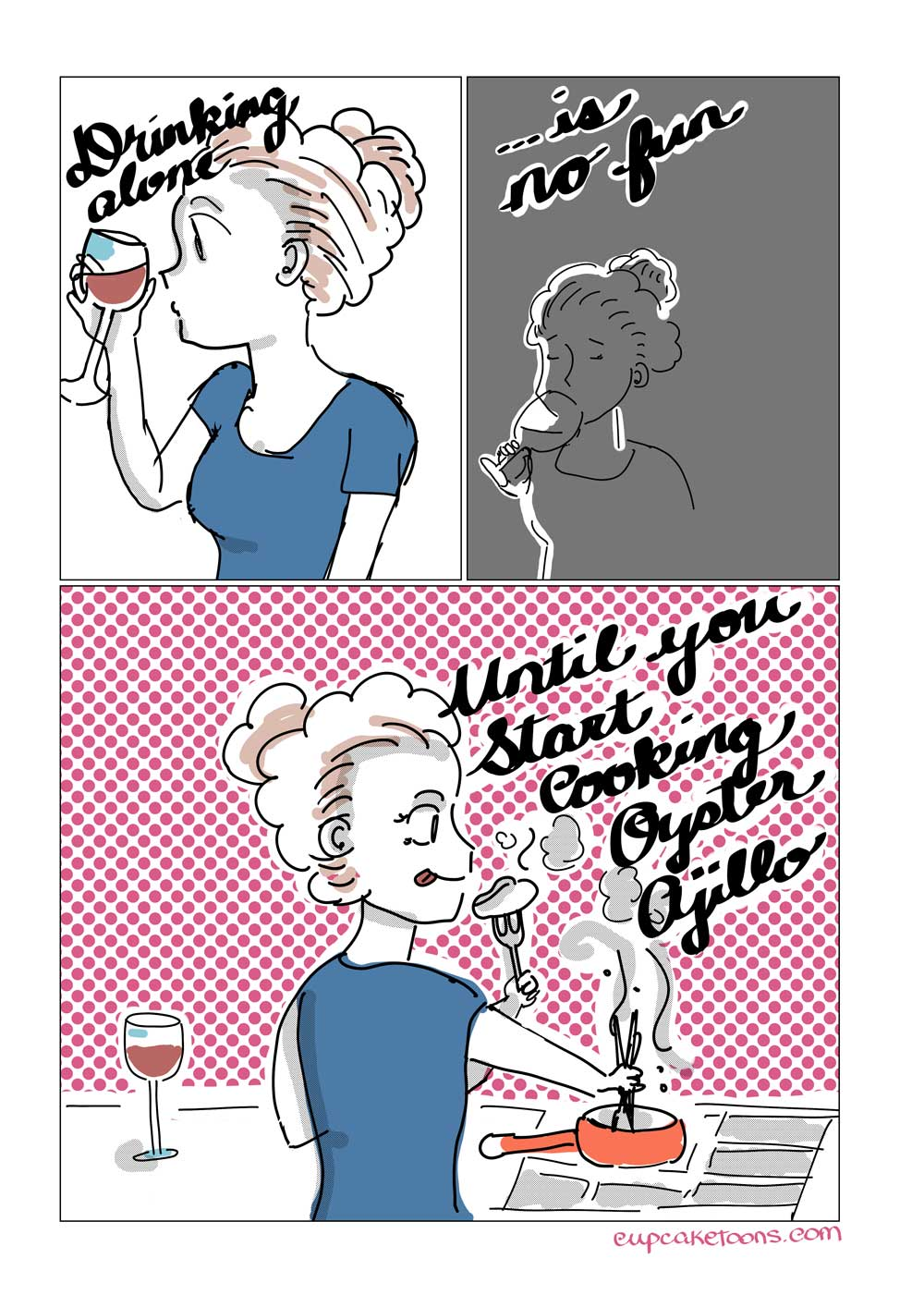 Drinking Alone Cartoon