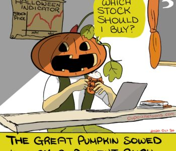 Sell in May and Go Away (Halloween Indicator) Cartoon